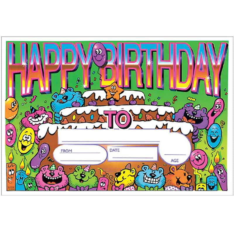 5511 Happy Birthday Certificate (25 per pack)