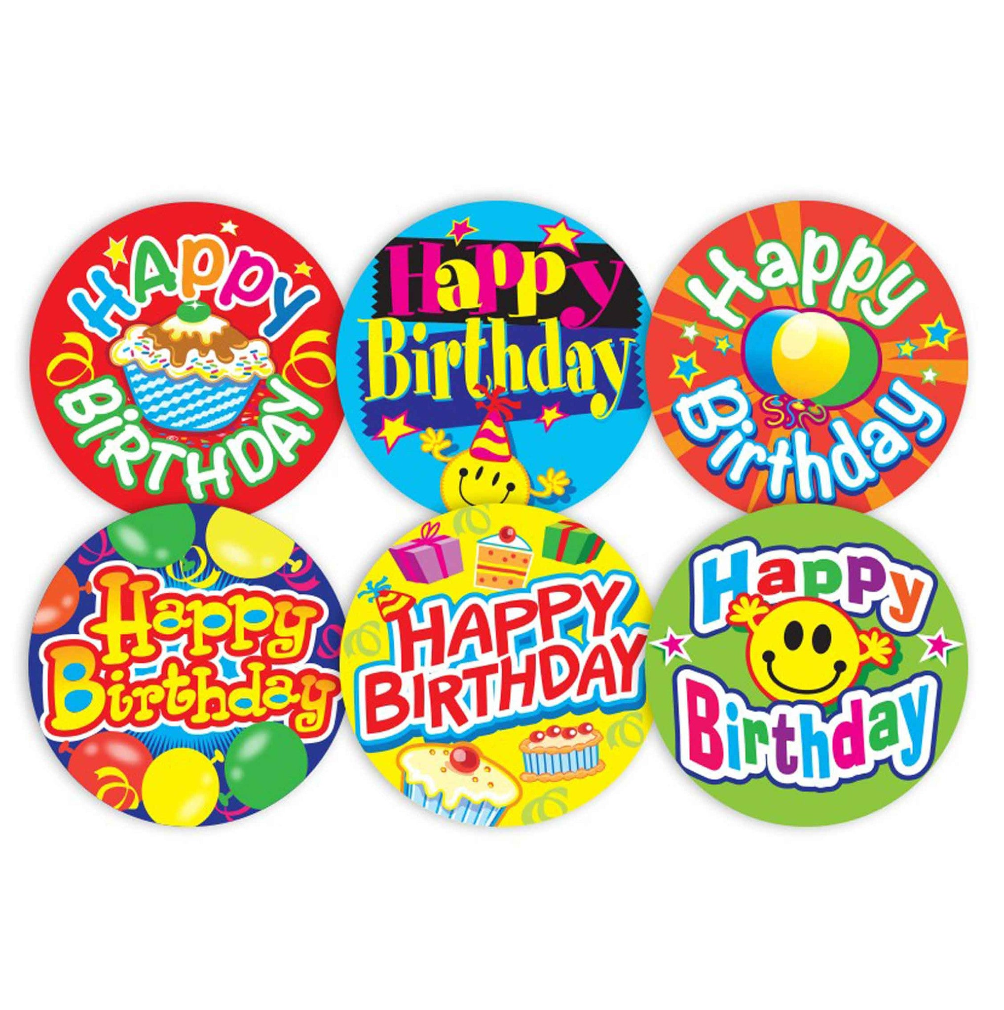 Happy birthday stickers school merit solutions