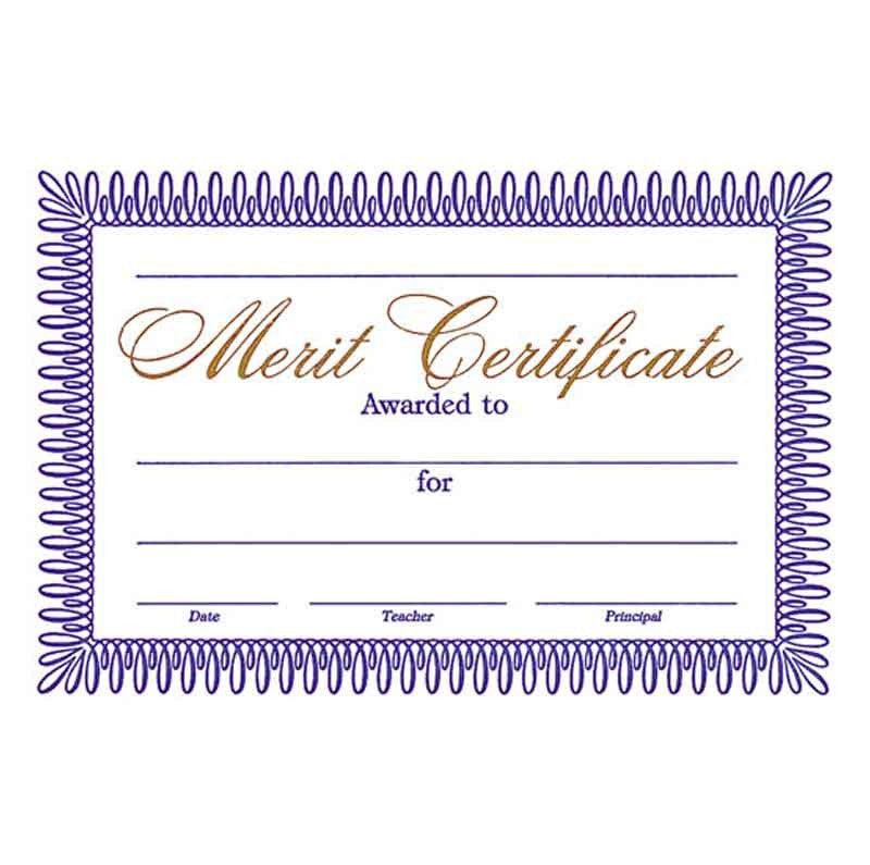 5861 Certificate of Merit (25 per pack)