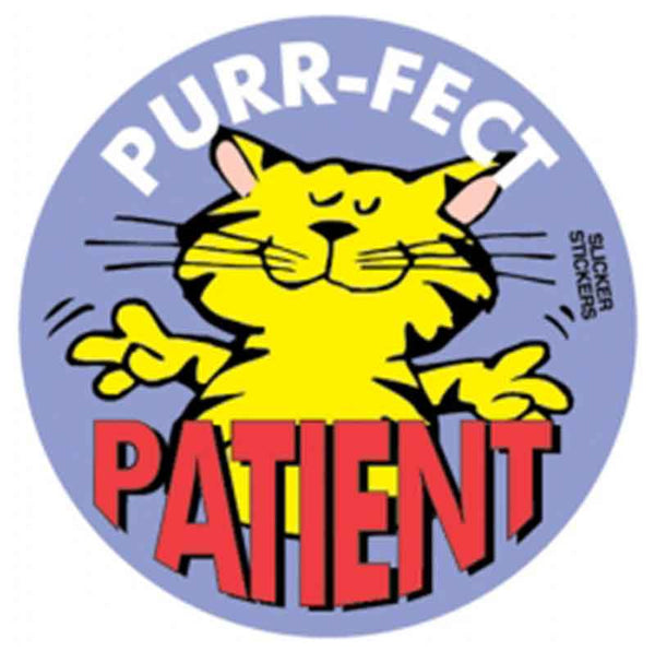 5 purr fect patient stickers school merit solutions for Medical chart letter stickers