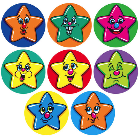 #250 Stars Chart Seal Stickers Multipack
