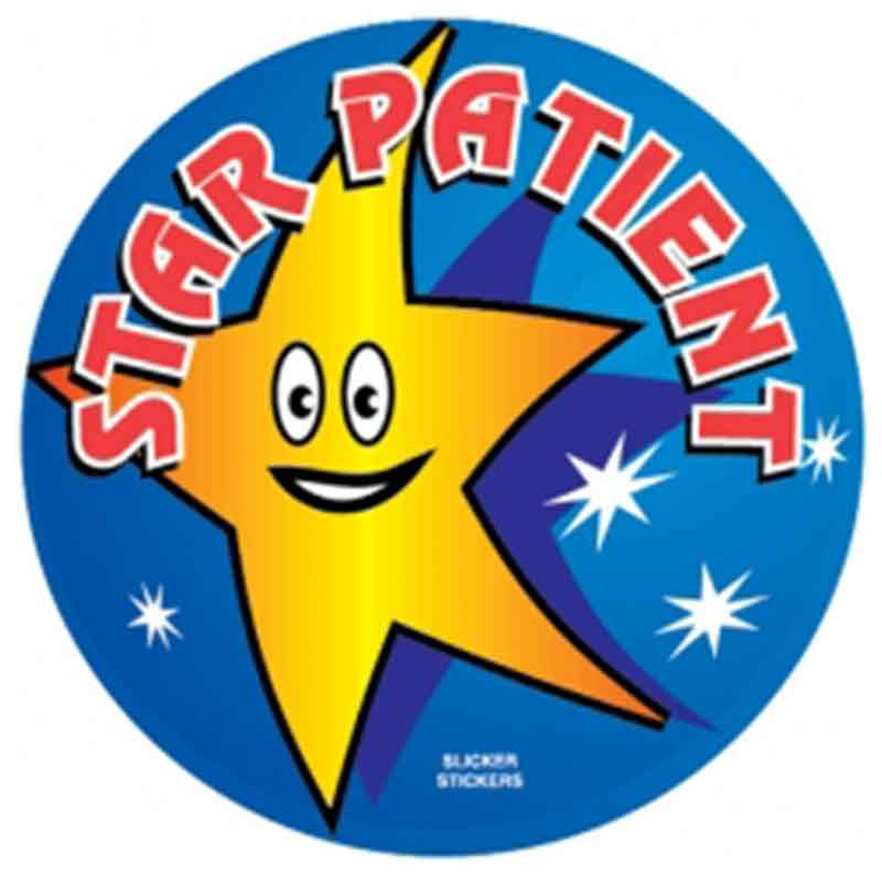 #60 Star Patient Stickers