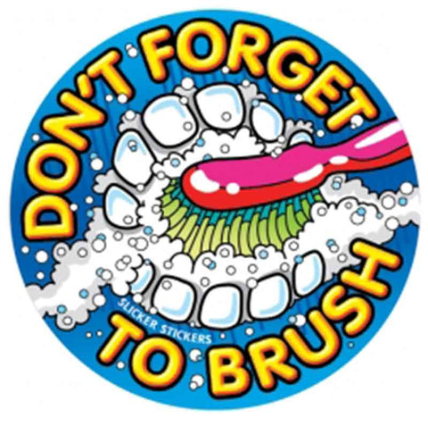 #64 Don't Forget To Brush Stickers