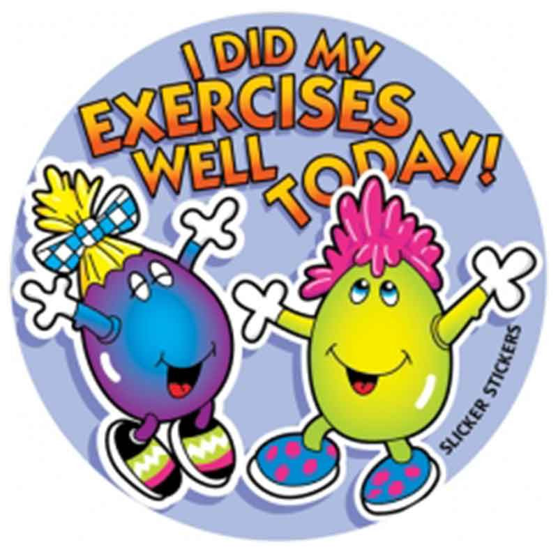 #67 I Did My Exercises Well Today Stickers