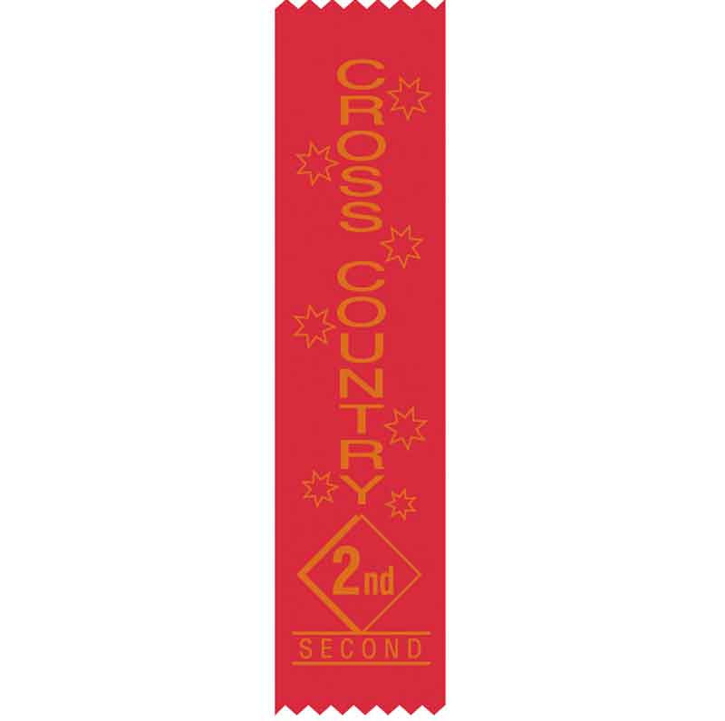 SR16 2nd Place Cross Country Satin Ribbons