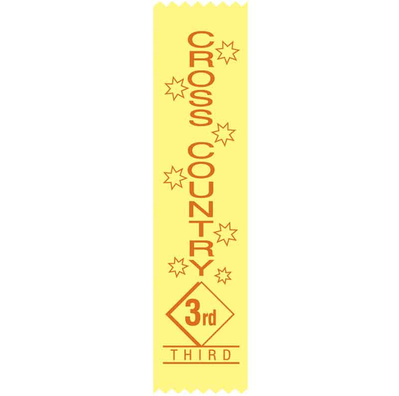 SR17 3rd Place Cross Country Satin Ribbon