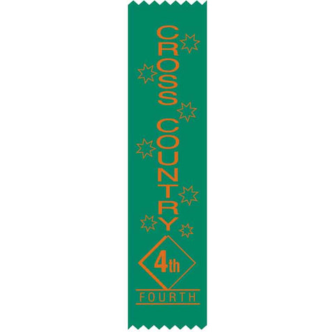 #SR18 / #S18 4th Place Cross Country Satin Ribbons