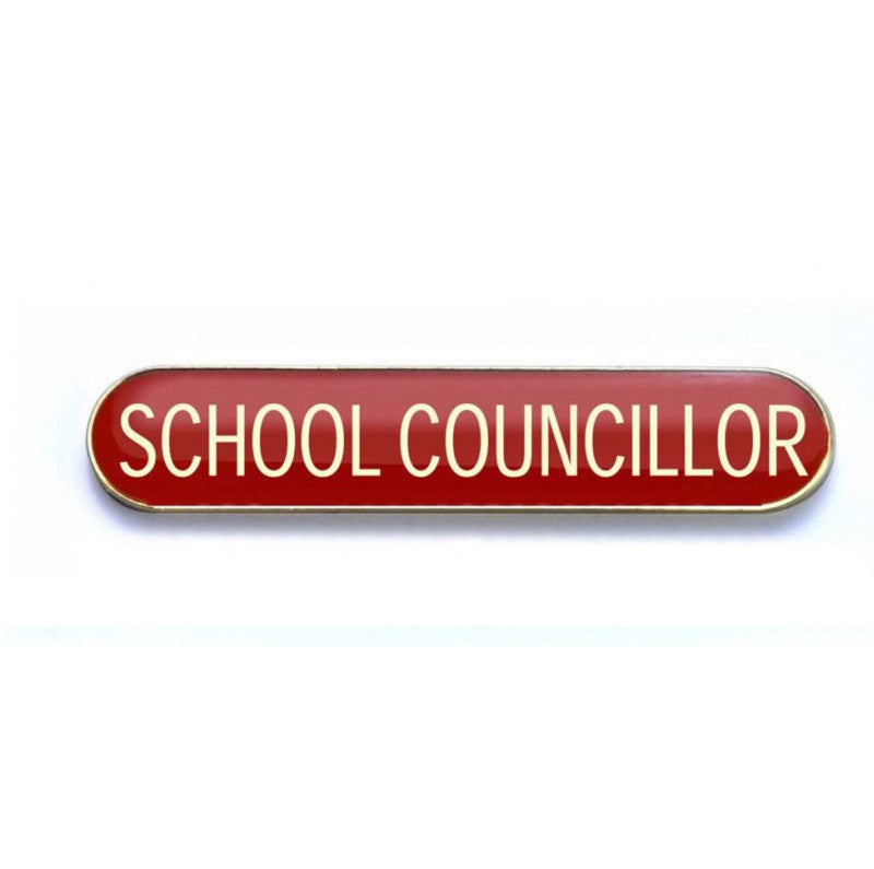 #E258 School Councillor Enamel Badges - pack of 5