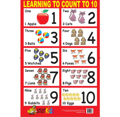 #SK010 Learning To Count To 10 One Sided Chart