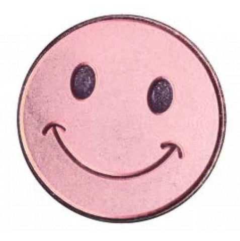 #E101 Bronze Smiley Face Enamel Badges - pack of 5