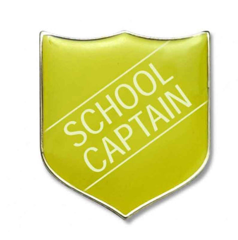 #E15 School Captain Enamel Badges - pack of 5