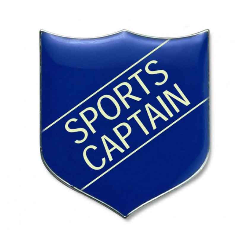 #E273 Sports Captain Enamel Badges - pack of 5