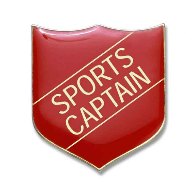 #E274 Sports Captain Enamel Badges - pack of 5
