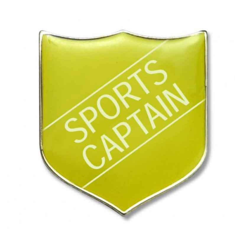 #E275 Sports Captain Enamel Badges - pack of 5
