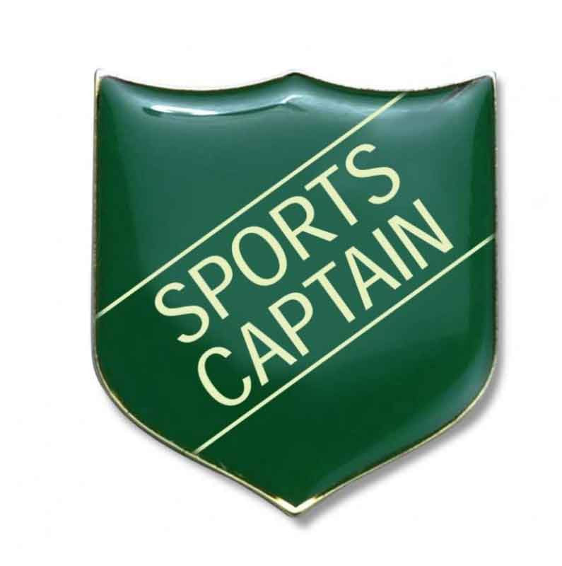 #E276 Sports Captain Enamel Badges - pack of 5