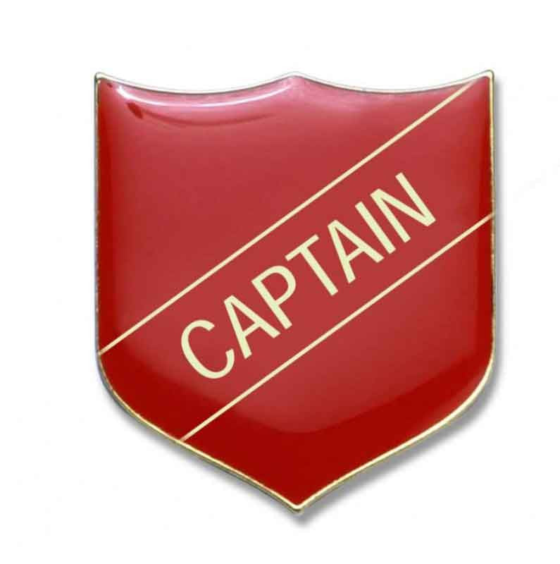 #E2 Captain Enamel Badges - pack of 5
