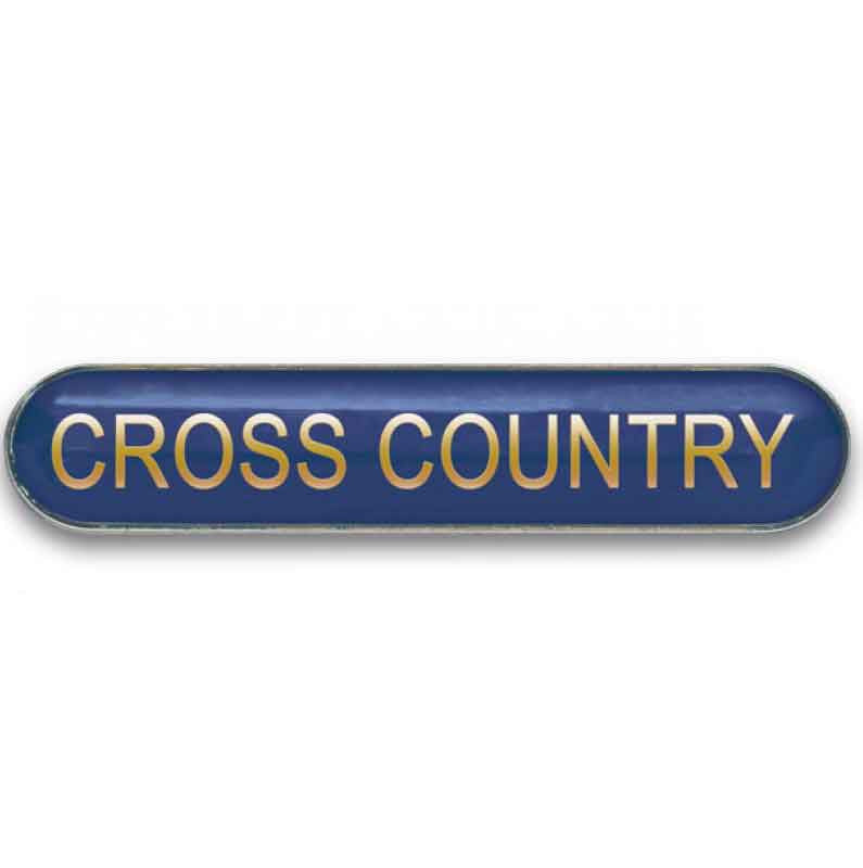 #E369 Cross Country Enamel Badges - pack of 5