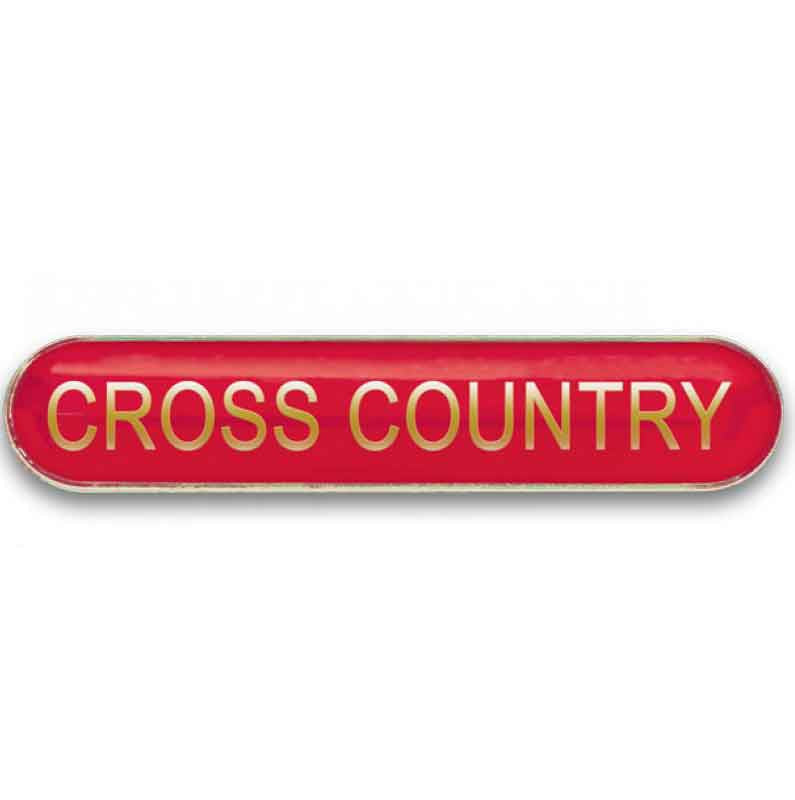 #E370 Cross Country Enamel Badges - pack of 5
