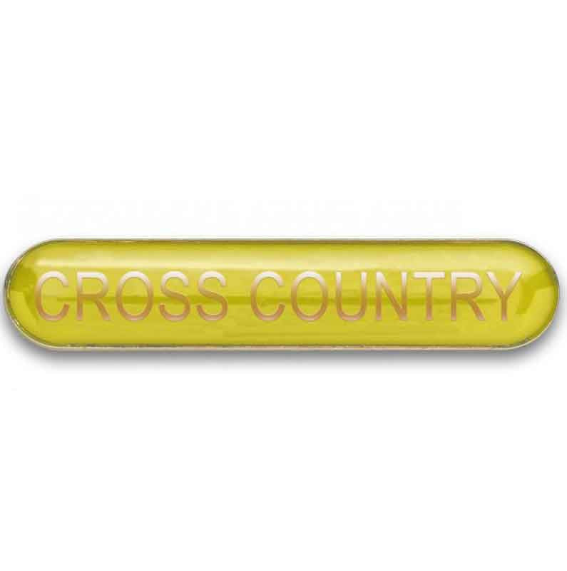 #E371 Cross Country Enamel Badges - pack of 5