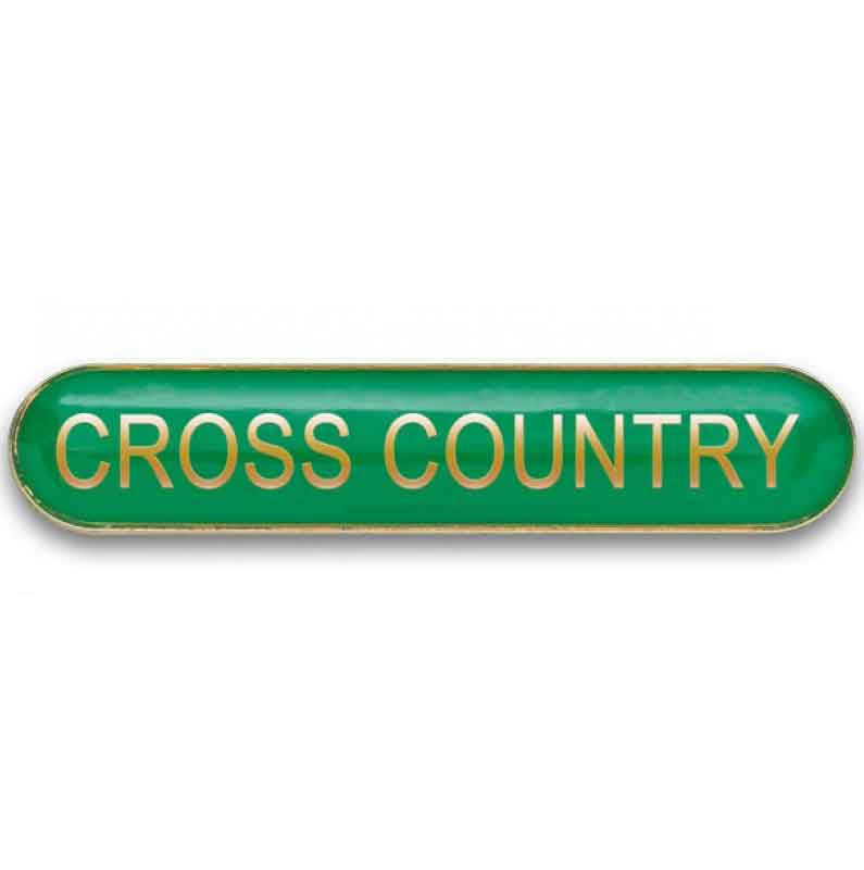 #E372 Cross Country Enamel Badges - pack of 5