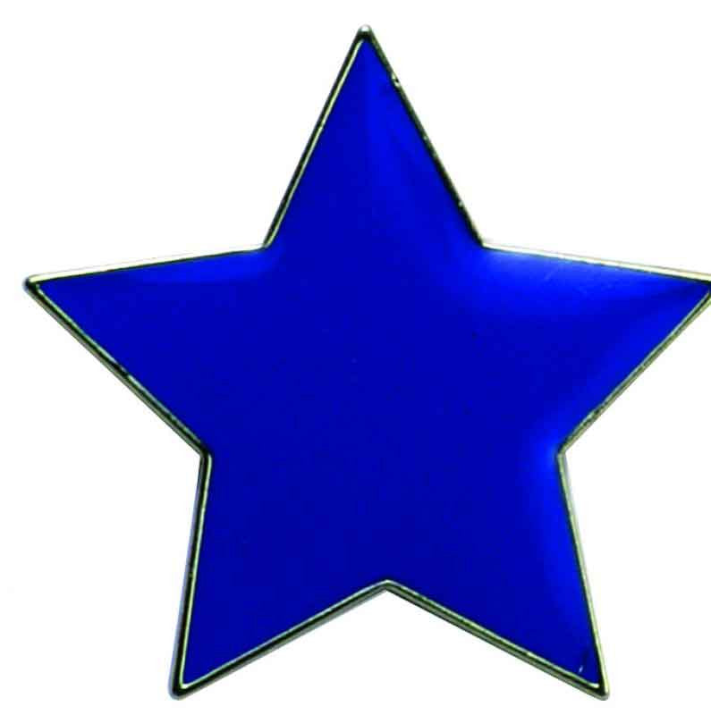 #E37 Blue Star Enamel Badges - pack of 5