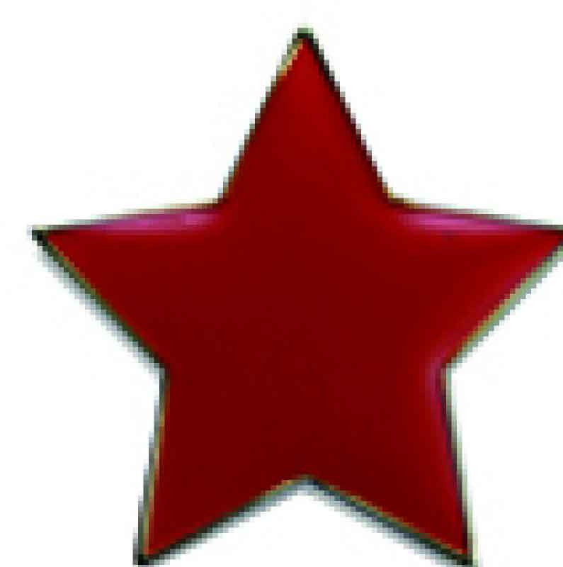 #E38 Red Star Enamel Badges - pack of 5