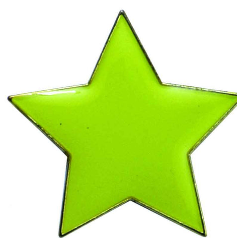 #E39 Yellow Star Enamel Badges - pack of 5