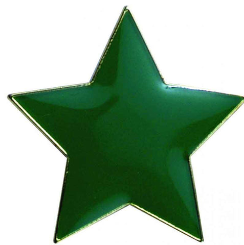 #E40 Green Star Enamel Badges - pack of 5