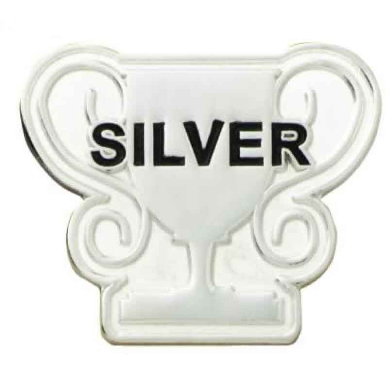#E81 Silver Trophy Enamel Badge - pack of 5