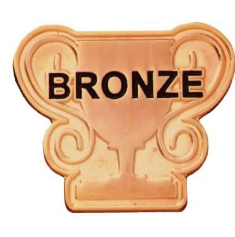 #E82 Bronze Trophy Enamel Badges - pack of 5