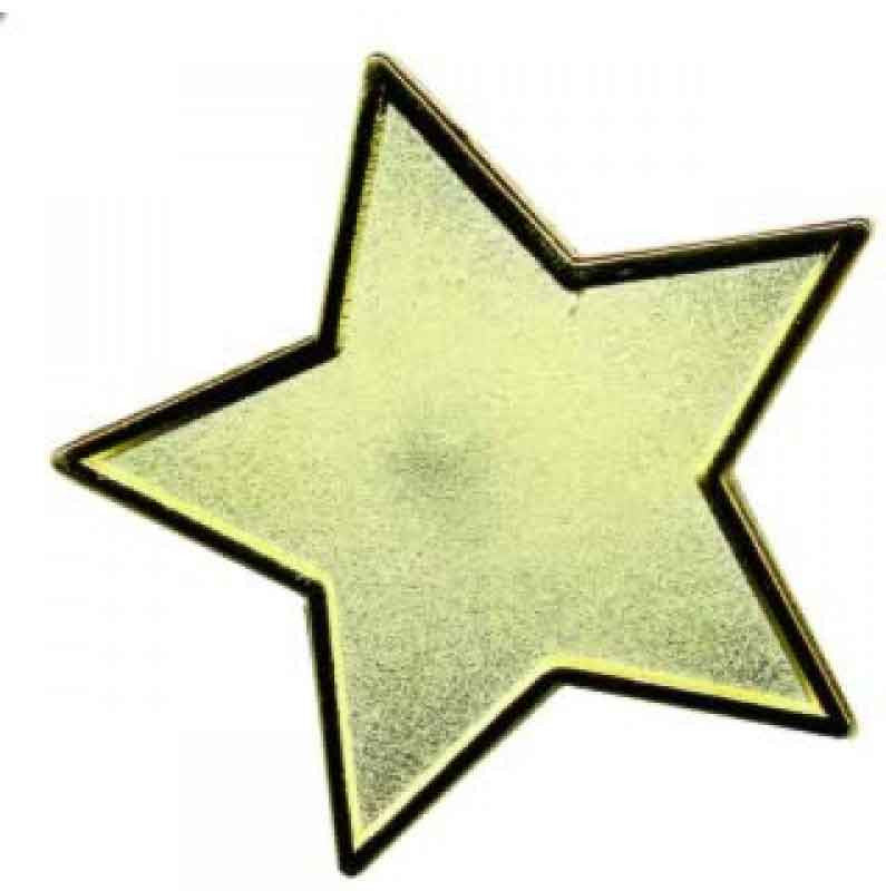 #E93 Gold Star Enamel Badges - pack of 5