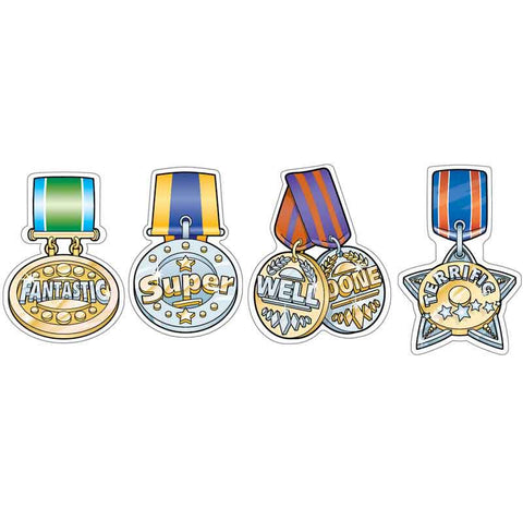 #266 Metallic Medal Stickers Multipack