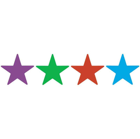 #340 Plain Star Stickers Multipack