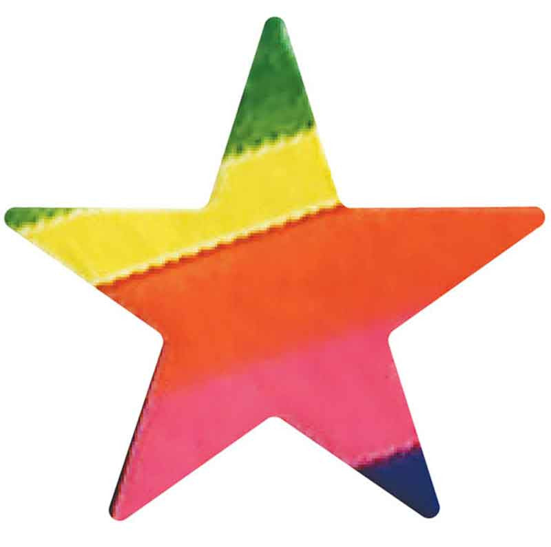 341 Multi Colored Metallic Star