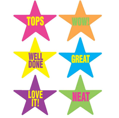 #343 Caption Star Stickers Multipack