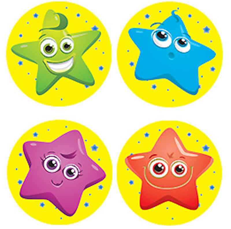 #360 Smiling Star Stickers Multipack