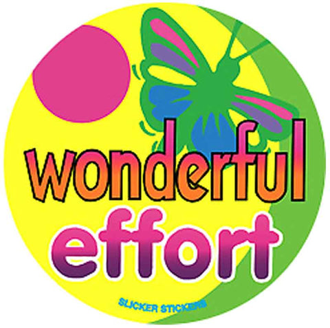 #451 Wonderful Effort Stickers