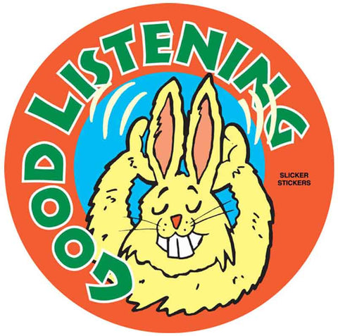 #500 Good Listening Stickers