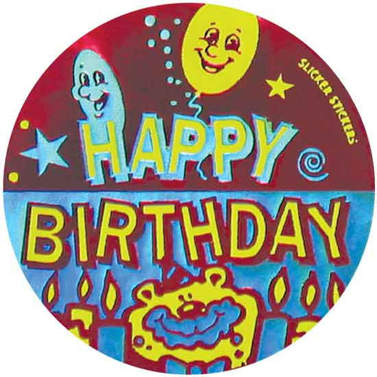 #549 Happy Birthday Metallic Stickers