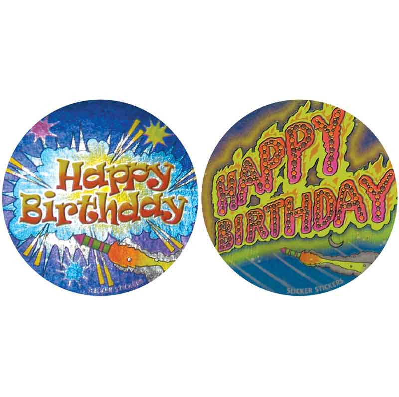 #550 Happy Birthday Metallic Stickers Multipack