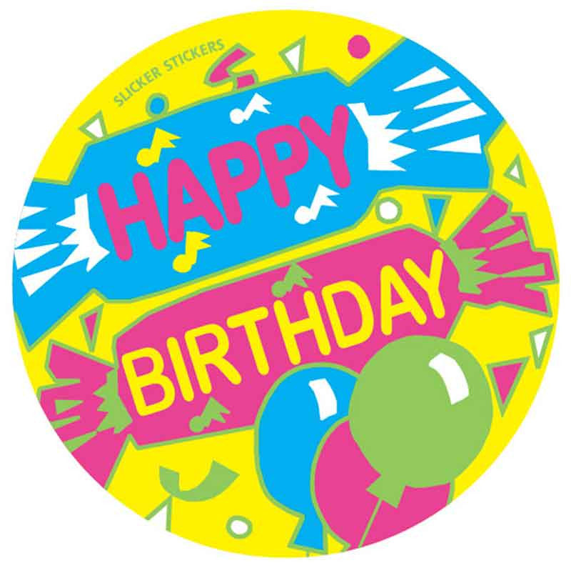 #551 Happy Birthday Stickers