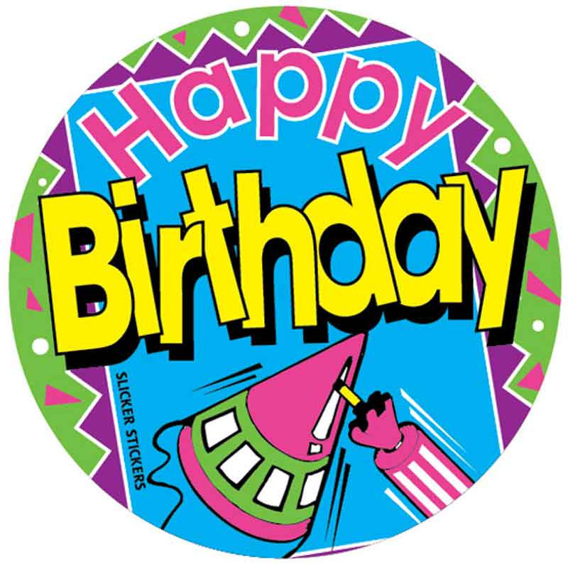 #552 Happy Birthday Stickers