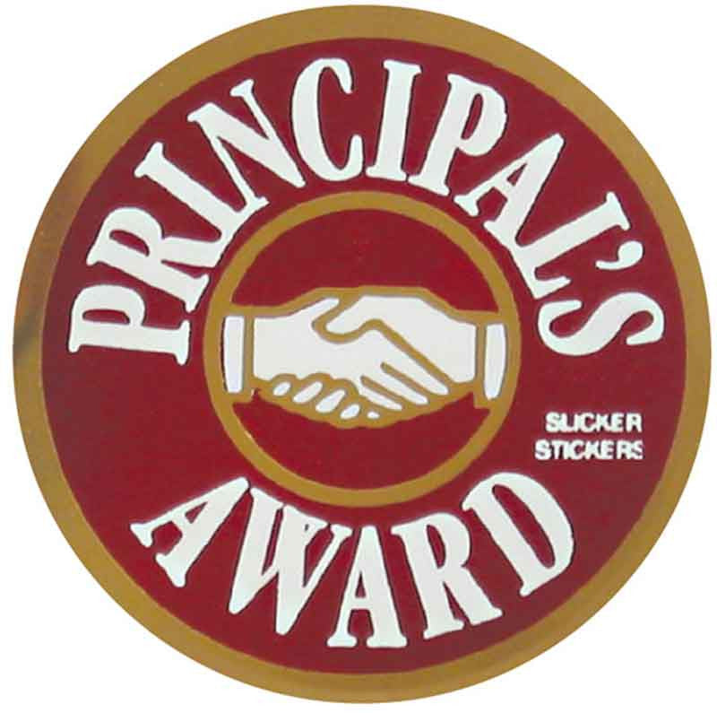 #576 Principal's Award Metallic Stickers