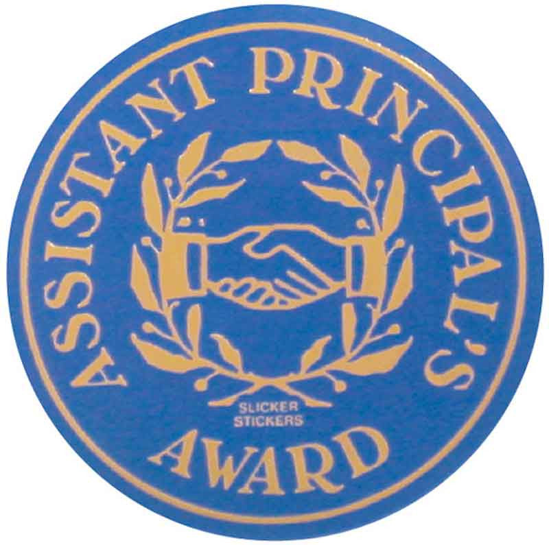 #587 Assistant Principal's Award Metallic Stickers