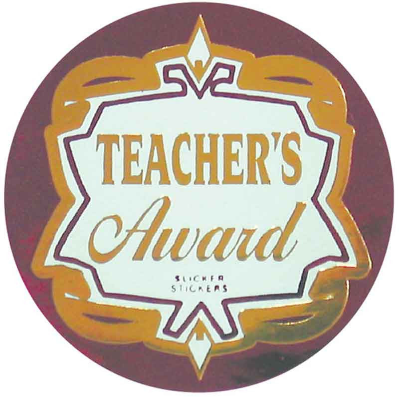 #590 Teacher's Award Metallic Stickers