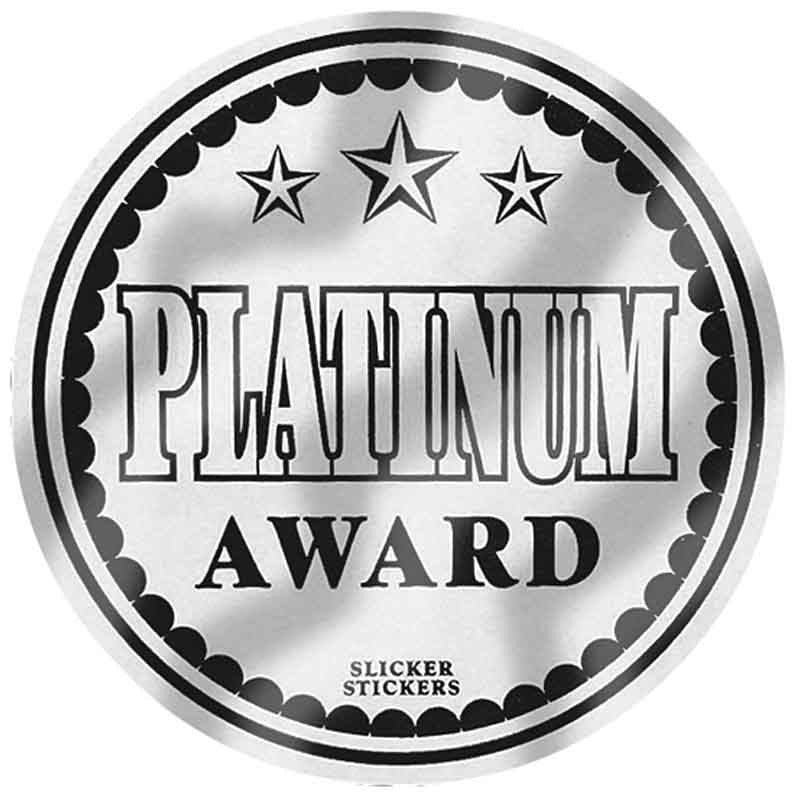 #597 Platinum Award Metallic Stickers