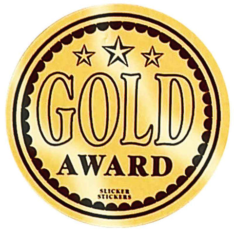 #598 Gold Award Metallic Stickers