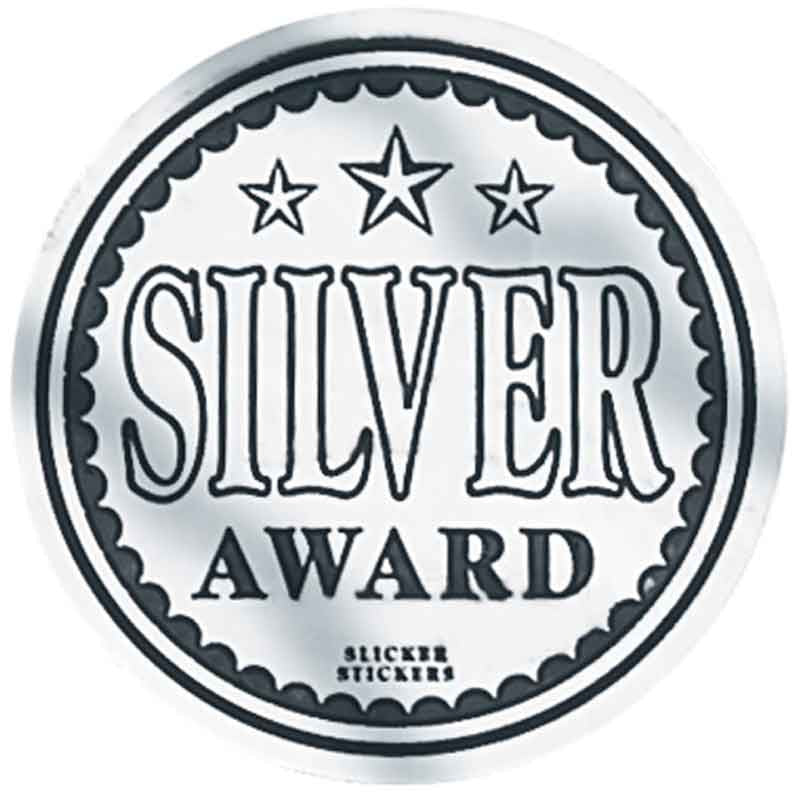 #599 Silver Award Metallic Stickers