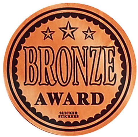 #600 Bronze Award Metallic Stickers