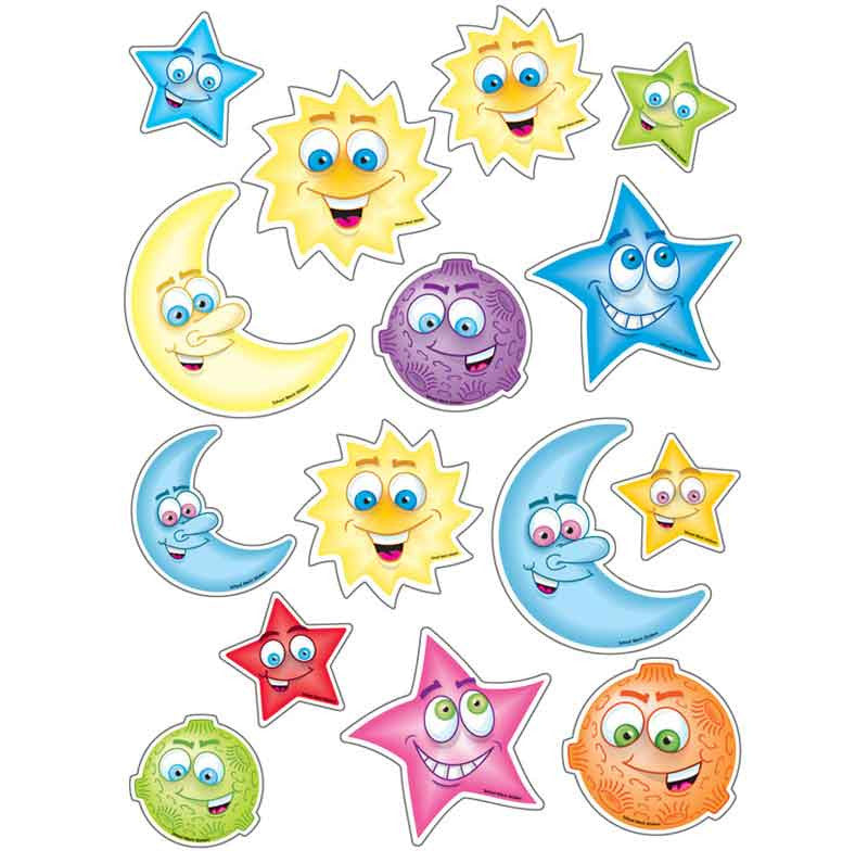 #677 Sun, Moon & Stars Stickers Multipack
